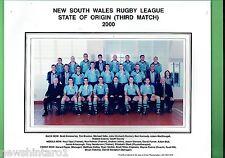 #T102. 2000 GAME 3 NSW ORIGIN TEAM  RUGBY LEAGUE  PHOTO