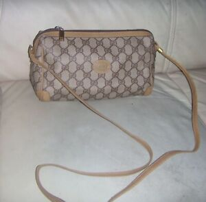 Vintage GUCCI Supreme Web GG Monogram Brown Crossbody Shoulder Bag - ITALY