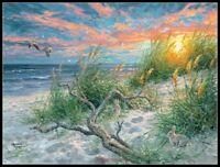 Beach Life - Chart Counted Cross Stitch Patterns Needlework DIY DMC 14 ct