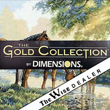 Lot 10 Kits - Dimensions - Gold Collection - Horses By A stream