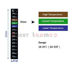 Aquarium Temperature Thermometer Glass Fish Tank Sticker Digital Peel Betta AU