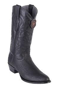 Men's Los Altos Genuine Shark Western Cowboy Boots Round Toe Medium D Width