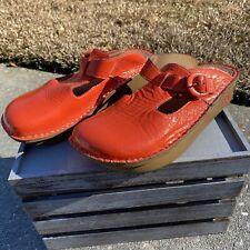 Gc Alegria Pg Lite Alg-307 Leather Clog Mule Nursing Medical Shoes Sz 39 Us 9