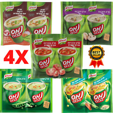 4X Instant cup soup Tomato croutons Chicken Pea Mushroom Vegetables Knorr kosher