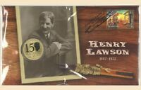 Australia 2017 Henry Lawson PNC Stamp & $1 UNC Coin Cover