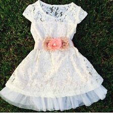 Ivory Lace Dress, Easter Dress Rustic Wedding Flower Girl, Shabby Chic, Tea Part