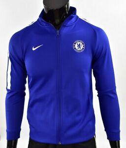 The Blues 2017-2018 NIKE Chelsea FC Home Training  Zip Sweatshirt YOUTH XL.boys
