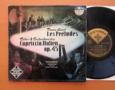 """Liszt Les Preludes Tchaikovsky Capriccio Italien 10"""" Vinyl Telefunken TW 30 006"""