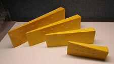 "Set of 4 Tree Felling falling Wedges Yellow 5.5"" 8"" 10"" 12"" ABS Logging Wedge"