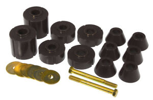 Prothane 73-80 GM Body Mount 12 Bushing Kit - Black - pro7-104-BL