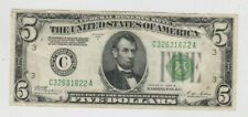 Federal Reserve Note $5 1928-B Redeemable in gold vf