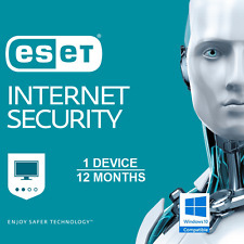 ESET Antivirus Internet Security 10 2018 1 U 1 Y Windows 7 8 10 e Licence