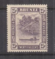 BRUNEI, 1931 Script CA, 25c. Slate Purple, lhm.