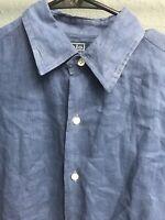 🧔🏇👔Men's Ralph Lauren Long Sleeve Dress Shirt Size Medium M Blue🧔🏇👔