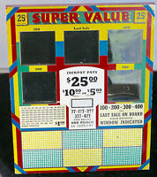 ADVERTISING PUNCH BOARDS GAMBLING STORE PROMOTION SUPERVALUE CIGARETTES TOBACCO