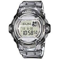 Casio BG169R LCD Stainless Steel Watch With Date And Alarm Function - New