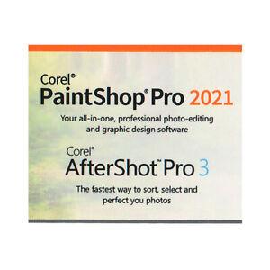 Corel PaintShop Pro 2021 & AfterShot Pro 3 - Keycard, New
