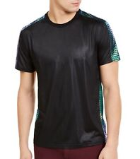 INC Mens T-Shirt Black Green US Large L Fate Iridescent Scale Trim Tee $29 284