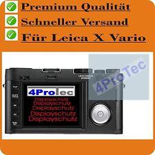 4x Leica X Vario CC Film Protecteur d'écran écran de displayfolie