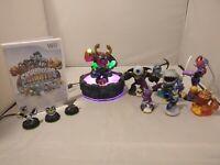 Big Skylanders Giants Figures Lot + Game (Wii) & Portal