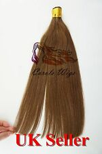 "16"" 1g 7A* Stick/I-Tip Double Drawn Indian Remy Human Hair Extensions UK 1st"