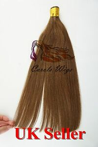 """14""""-24"""" 1g 7A* Stick/I-Tip Double Drawn Indian Remy Human Hair Extensions UK 1st"""
