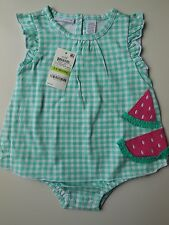 GORGEOUS BABY GIRL SUMMER ROMPER DRESS SIZE 00 FITS 3-6M *NEW *GIFT
