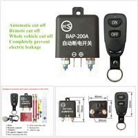 Wireless Remote Control 12V Battery Disconnect Cut Off Isolator Master Switch