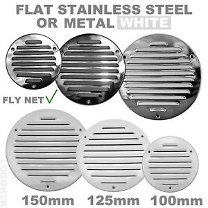Flat Circle Air Vent Grill Metal Cover Round Ducting Ventilation Ø 100 125 150