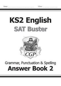 Grammar Punctuation & Spelling Answer Book 2 KS2 English SAT Buster CGP SATS NEW