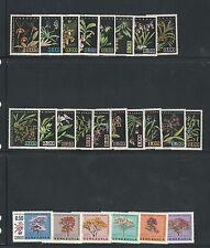 Venezuela: Lot of 6 Complete sets, 2 souvenirs sheets, flora, orchids mint VE492