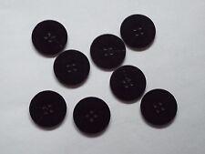 8pc 23 mm Dark Brown Faux cappotto di corno Tuta Cardigan maglieria pulsante 5007
