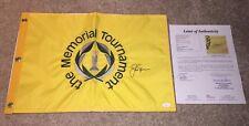 JACK NICKLAUS SIGNED THE MEMORIAL FLAG MASTERS MUIRFIELD VILLAGE GOLDEN BEAR JSA