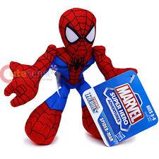 Marvel Super Hero Spiderman Plush Doll Playskool Bean Bashers Stuffed Toy