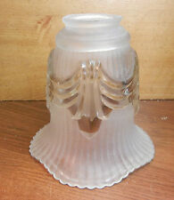 """MURRAY FEISS (UNSIGNED) CRYSTAL SHADE 5-1/2""""x 2-1/8""""for CHANDELIER LAMP SCONCE"""