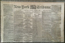 2 - 1861 Civil War Newspapers - 200,000 Rebs at Washington & Sigel at Lexington
