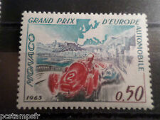 MONACO 1963, timbre 609, SPORT, GRAND PRIX AUTOMOBILE MC, neuf**, MNH, CARS