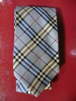 TRES BELLE CRAVATE BURBERRY'S SOIE MOTIF BURBERRY'S NEUVE/NEW SILK TIE