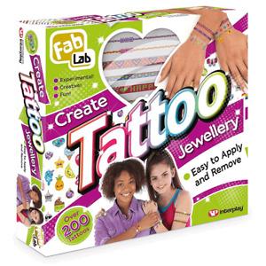 FabLab Tattoo Jewellery 200 Tattoos Gift Set | Brand New