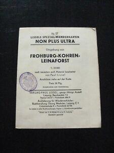 Lissels Spezial Wanderkarte Nr 17.Umgebung v.Frohburg Kohren Leinaforst um 1910