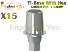 15X Dental Ti-Base For Osstem Hiossen Implant Mini Platform With Hex