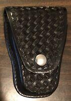 Ted Blocker 23 Single Handcuff Case Carrier Black Basketweave