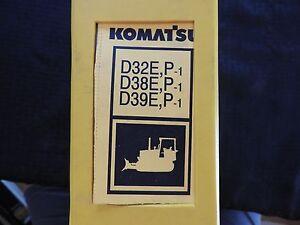 KOMATSU D 32 38 39 E P-1 D32E D38E D39E P 1 DOZER TRACTOR SERVICE REPAIR MANUAL