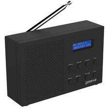 Groov-e Paris Portable DAB/FM Portable Digital Radio - Black New UK GVDR03/BK