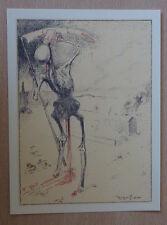 RASSENFOSSE La Mort est soûle. Reproduction lithographie squelette skeletton