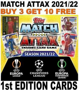 MATCH ATTAX 2021/22 21/22 CHAMPIONS LEAGUE & EUROPA BASE CARDS 1st EDITION CARDS