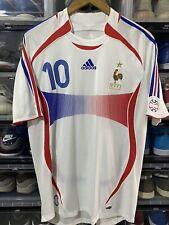 Adidas France Zidane Away Jersey/shirt World Cup 2006 sz L