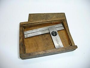 Moore & Wright adjustable engineers square, boxed hardened No 414