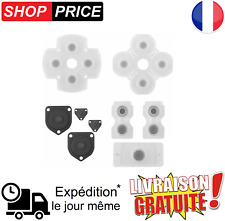 Kit complet (9 pièces) bouton silicone pour  manette PlayStation 4 PS4 (NEUF)