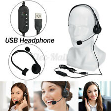 USB Headset With Microphone Noise-Canceling Computer Headphone For PC Chat Call